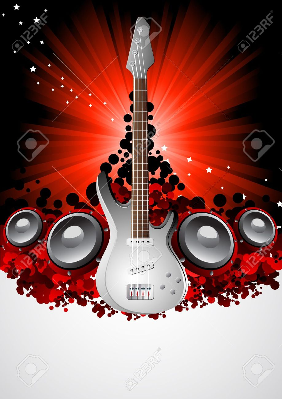 Vector Music Background; Clip-art Royalty Free Cliparts, Vectors ...