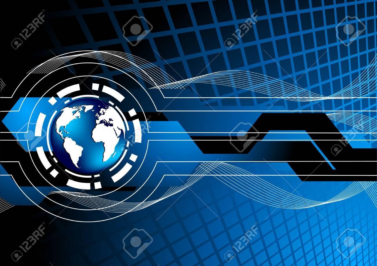 Vector blue background; clip-art Stock Vector - 6700672