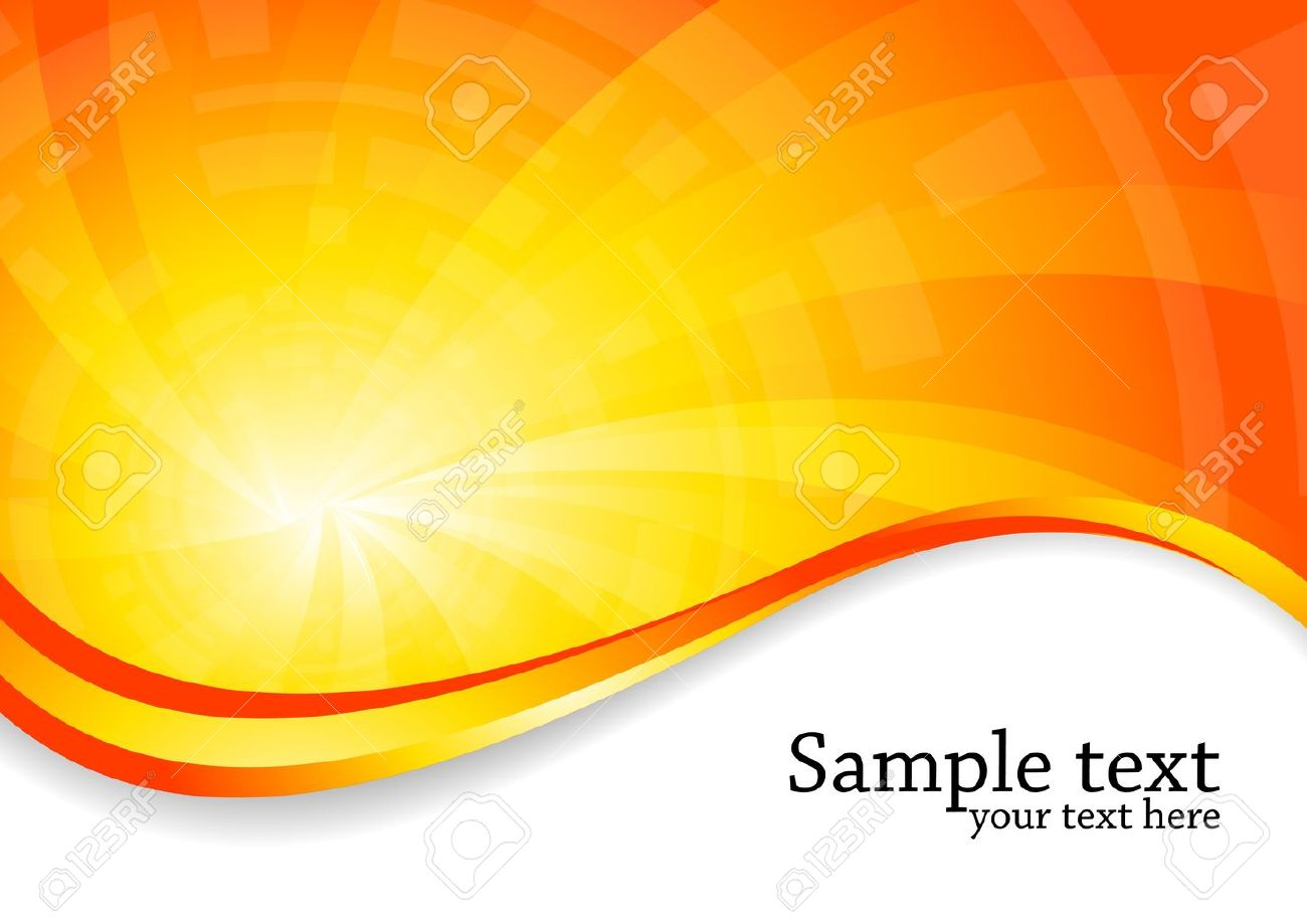 Orange Vector Background Vector - bright background in