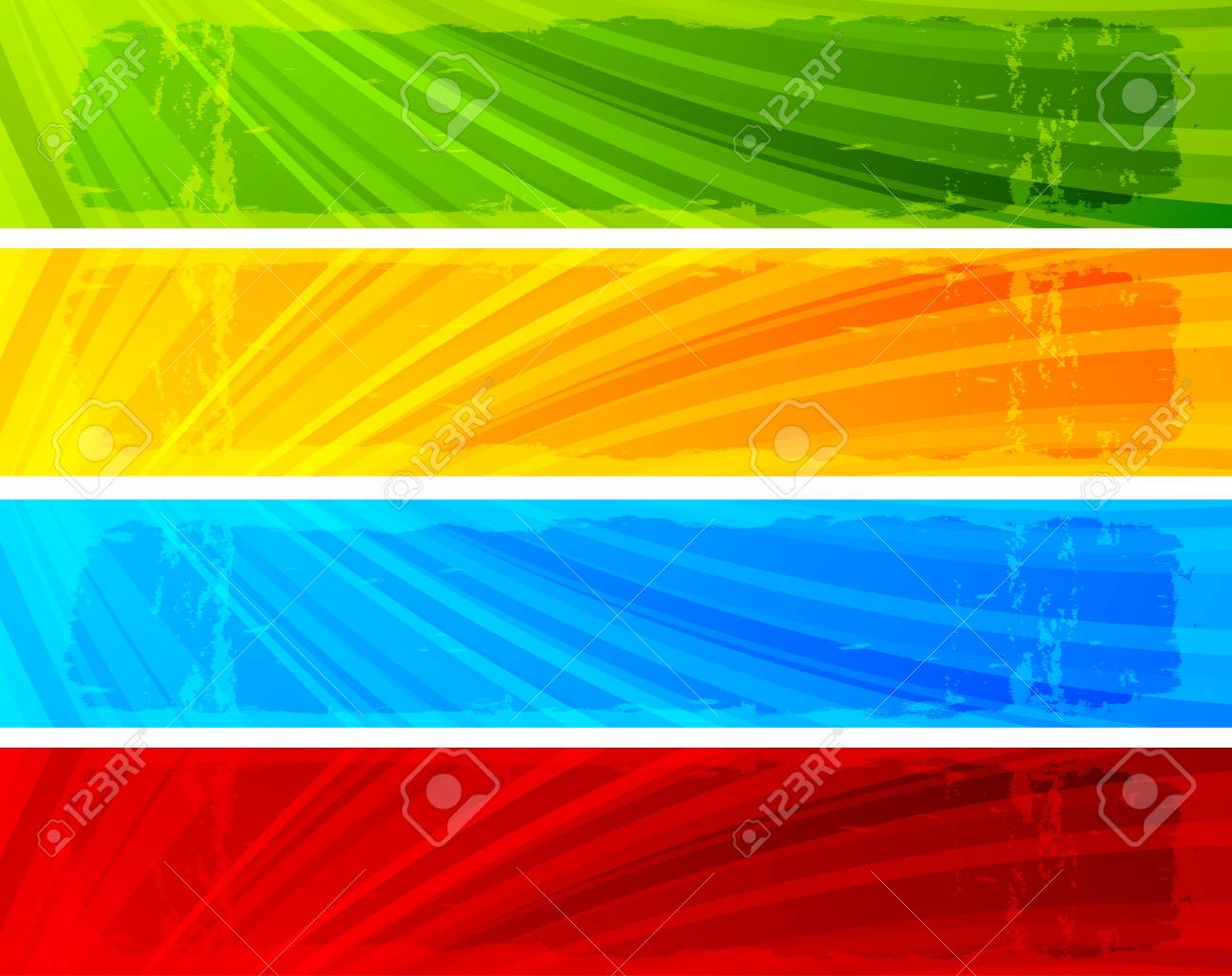 Collection of seven banners Stock Photo - 8838599