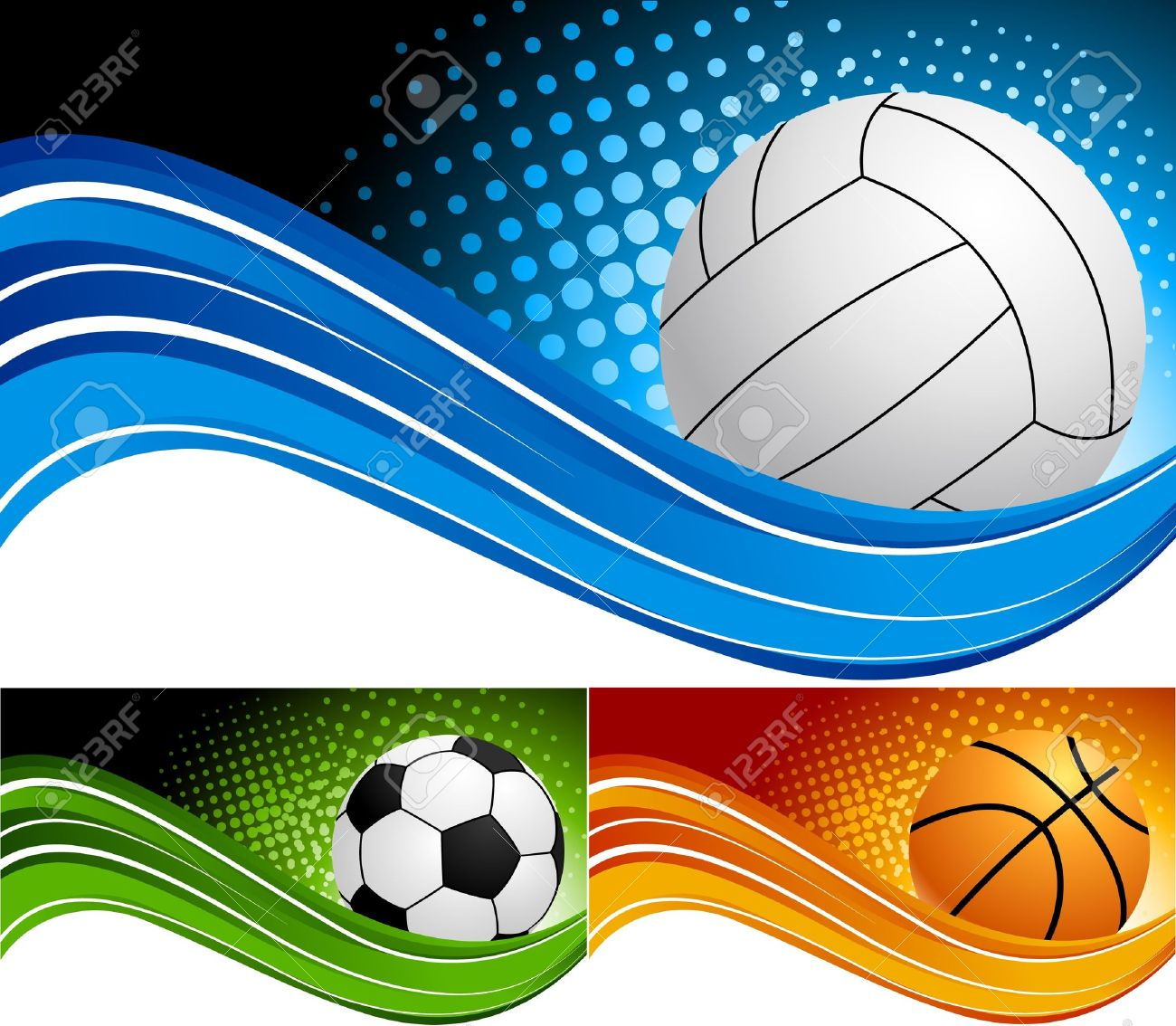 Set Sport Background Royalty Free Cliparts, Vectors, And Stock