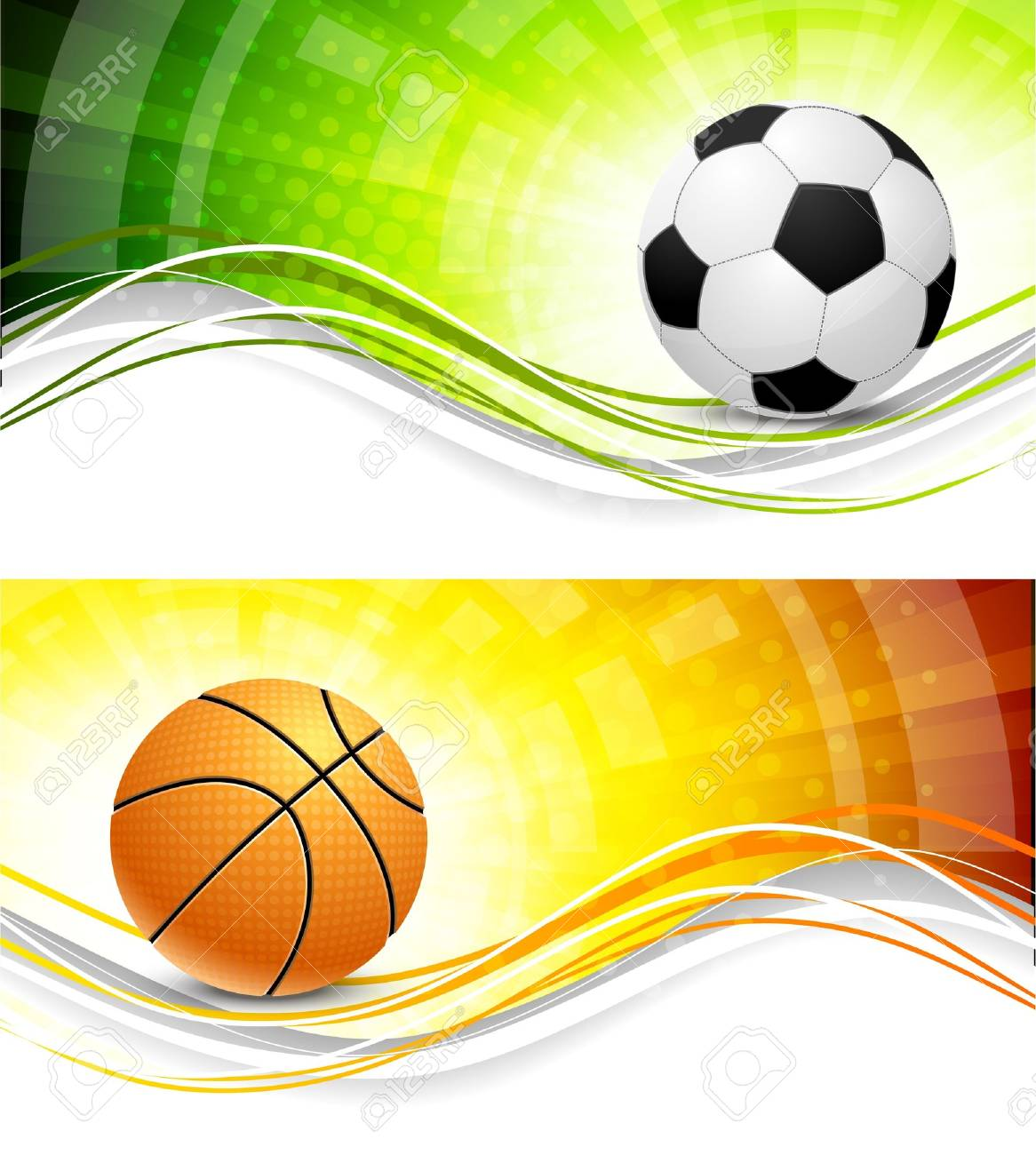 Sport banners Stock Photo - 10709416