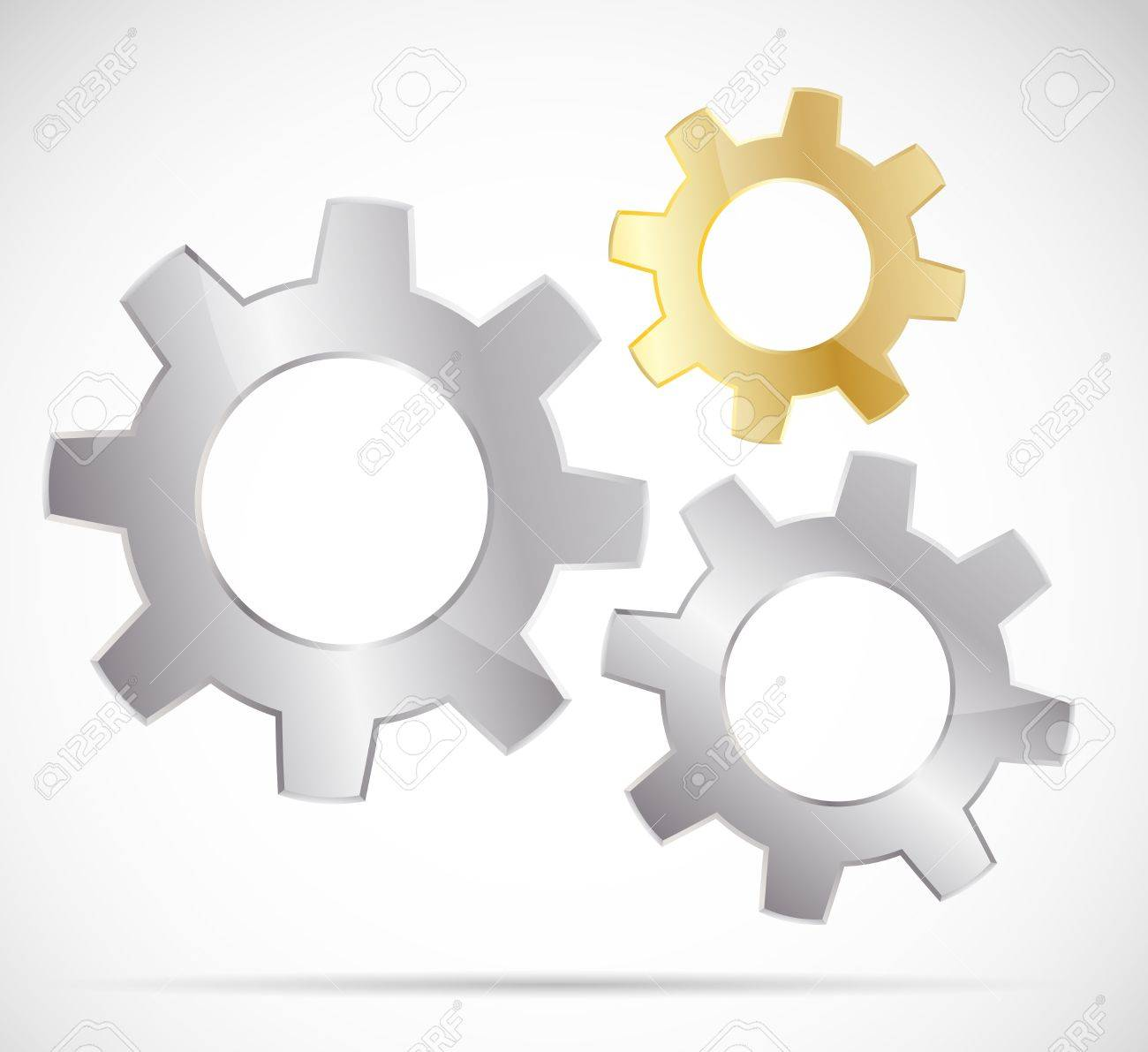 Three bright gears Stock Vector - 11929581