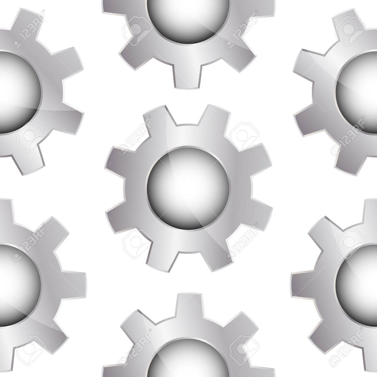 Bright grey seamless background with metal gears Stock Photo - 13557711