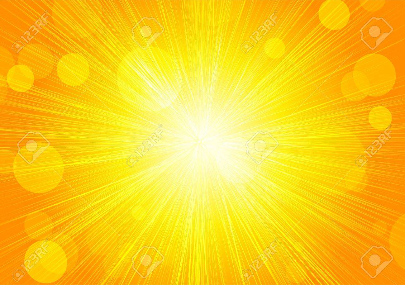 abstract bright orange background with circles and rays royalty free