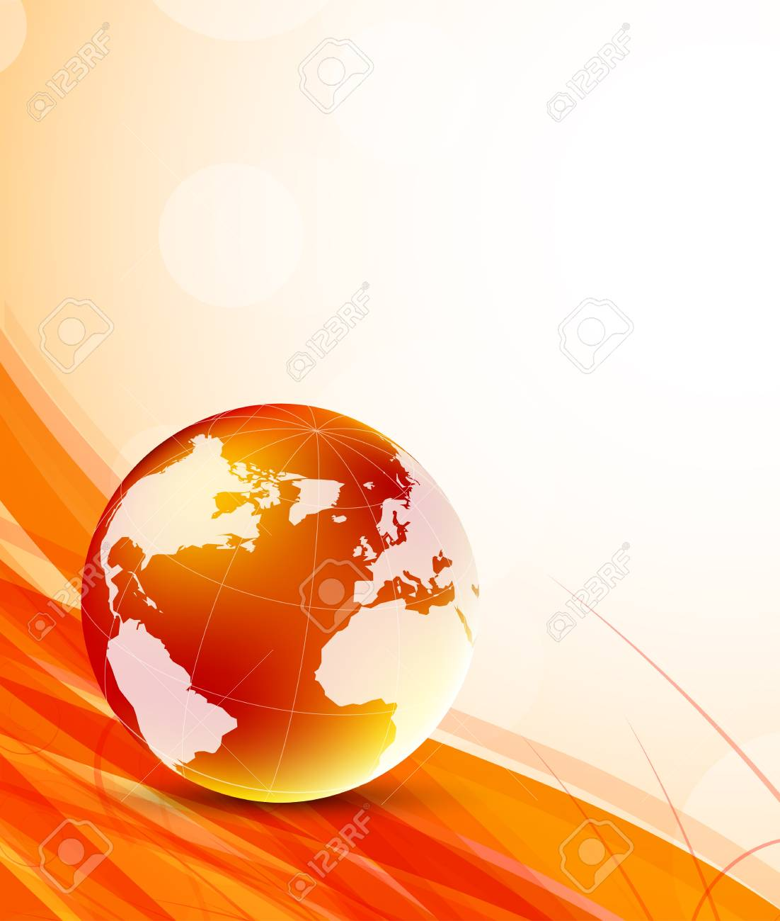 Background with orange globes Stock Vector - 15222541