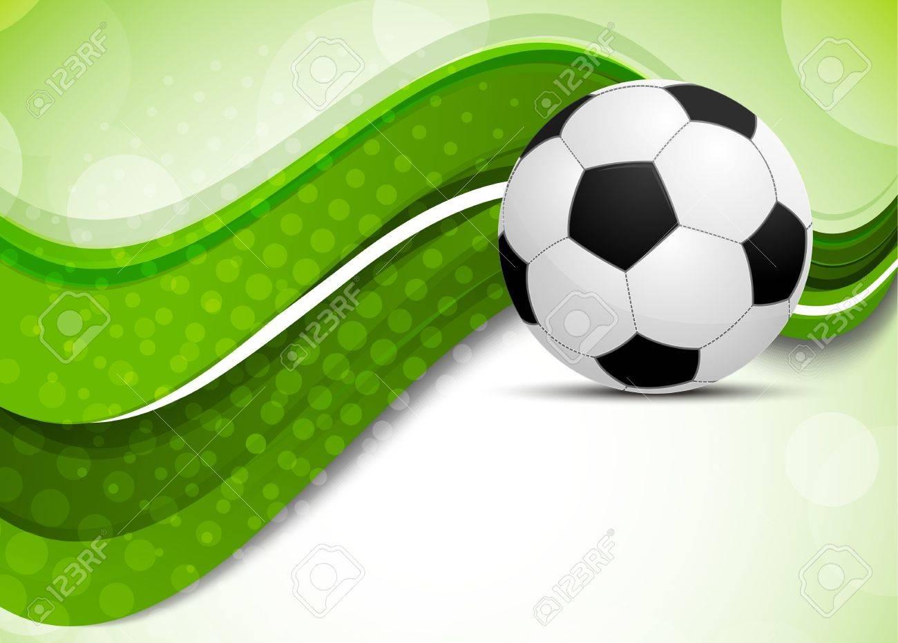 7b50d8774e03c Fondo verde con la pelota de fútbol. Ilustración abstracta Foto de archivo  - 15472763