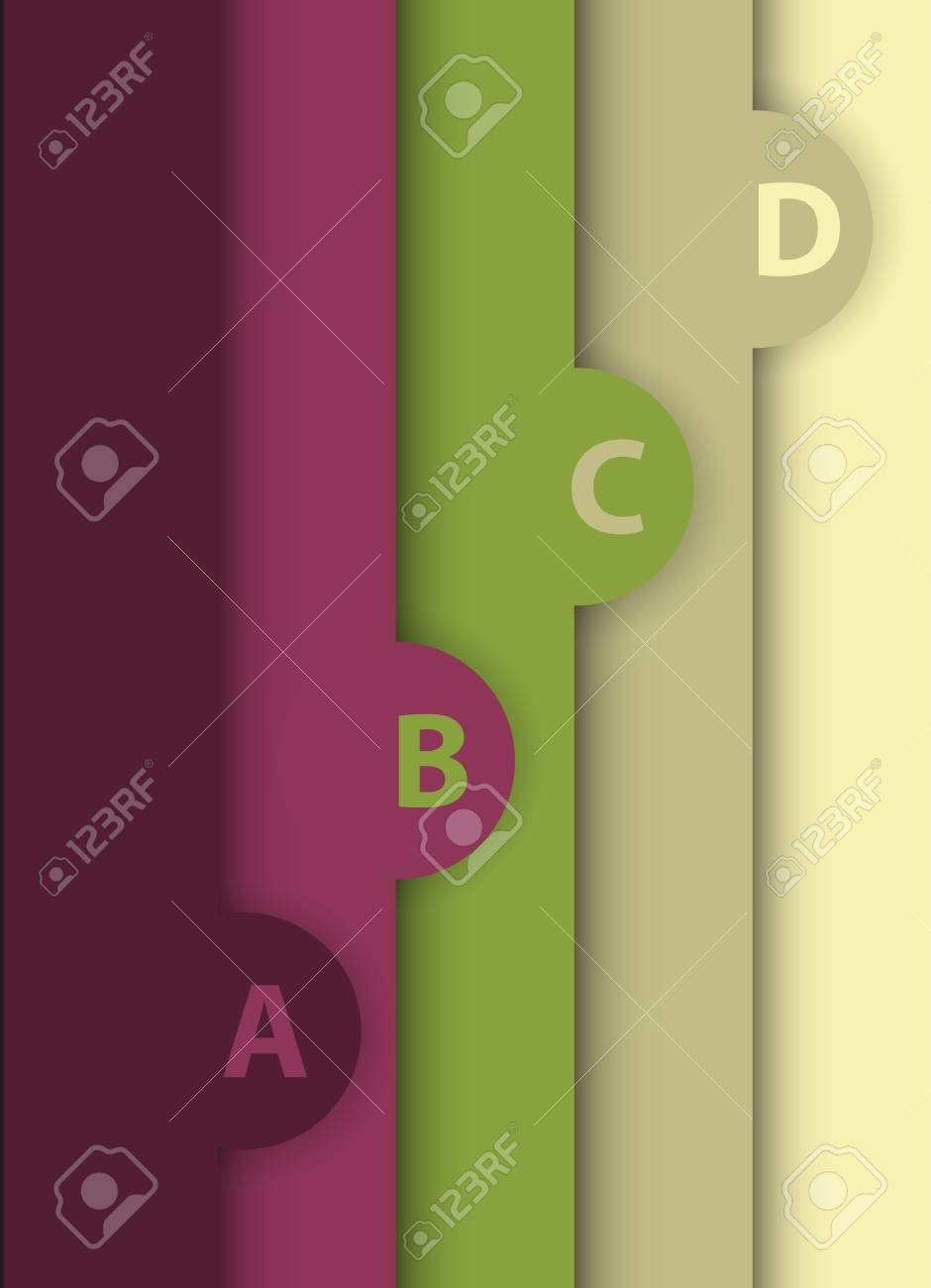 Abstract design template banners in different colors Stock Vector - 15701834