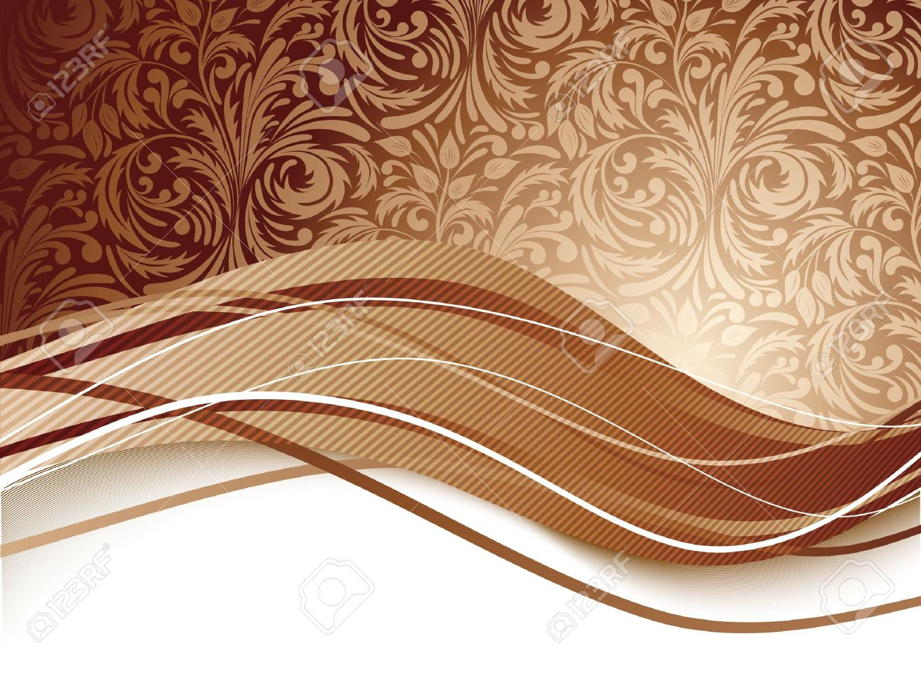 Floral background in brown color  Chocolate illustration Stock Vector - 15813235