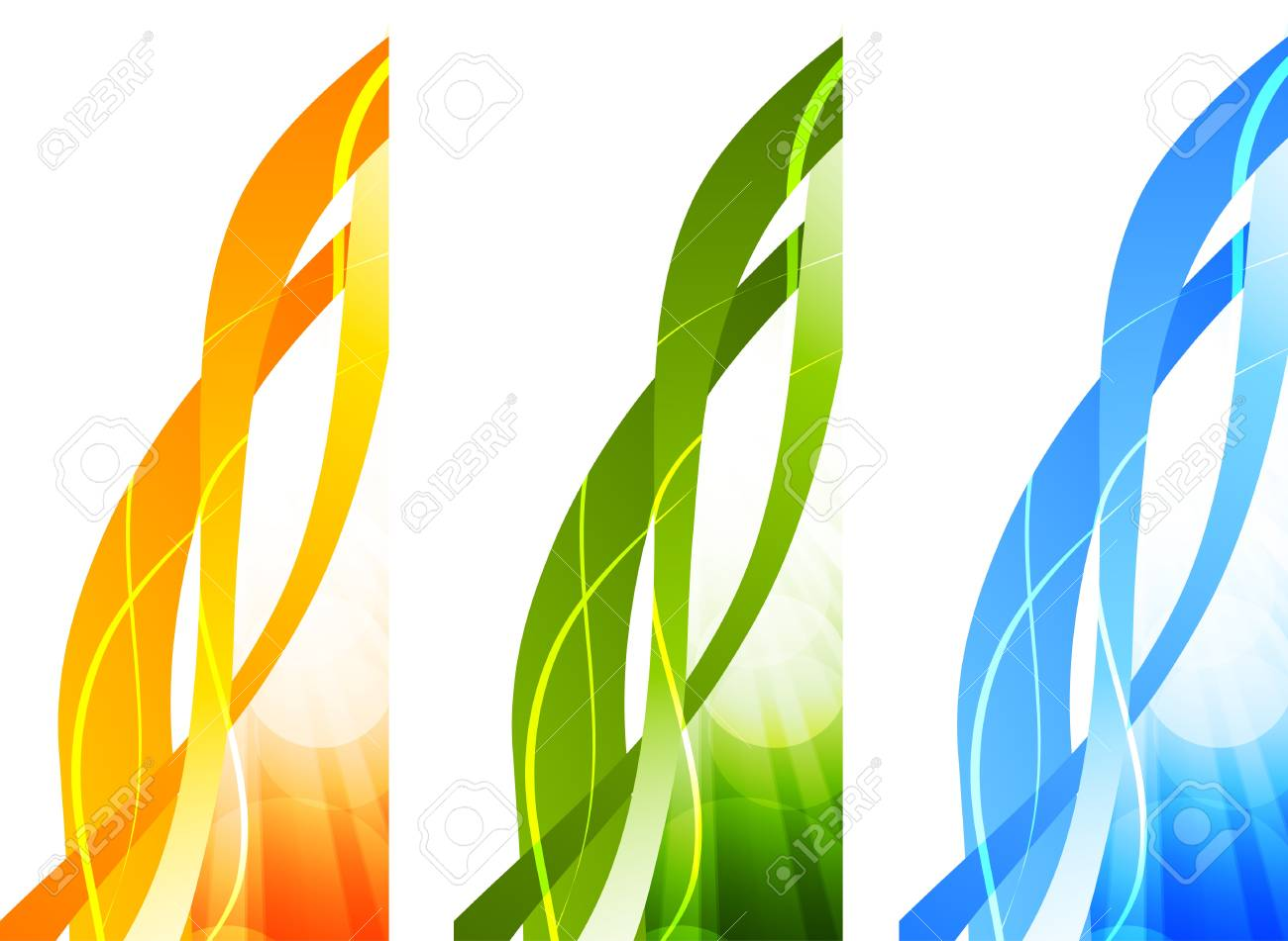 Set of bright banners  Abstract illustration Stock Vector - 17159017