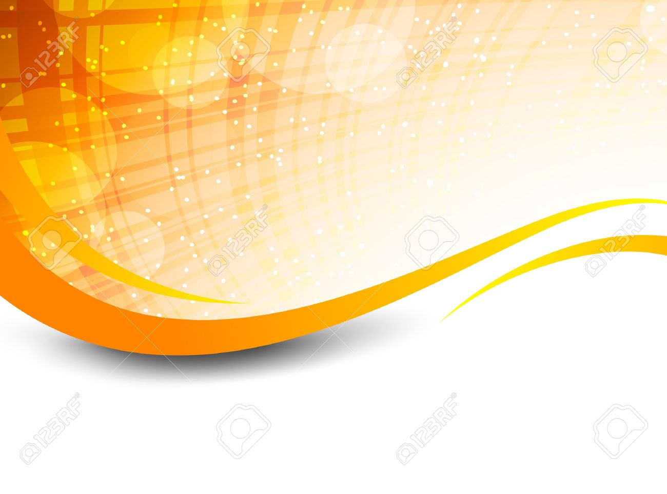 Orange Vector Background Wavy orange background with