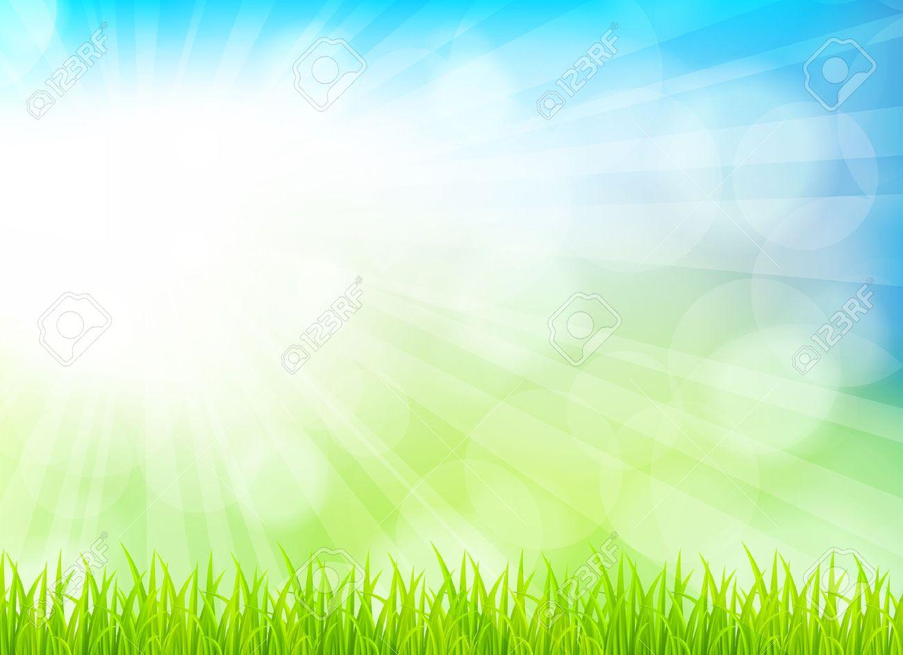 草と春の背景。明るいイラスト ロイヤリティフリークリップアート