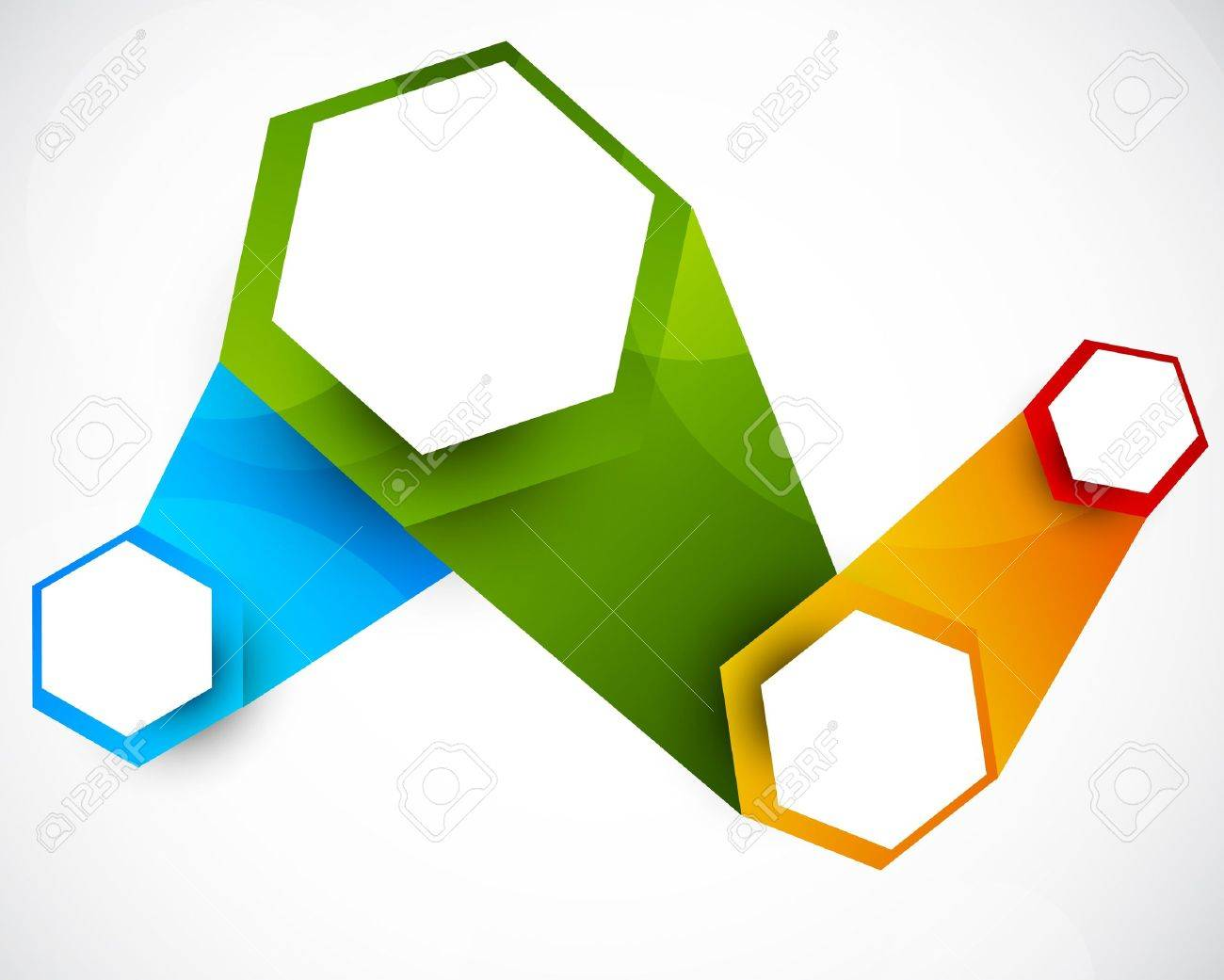 Abstract background with hexagons  Bright colorful illustration Stock Vector - 17994440
