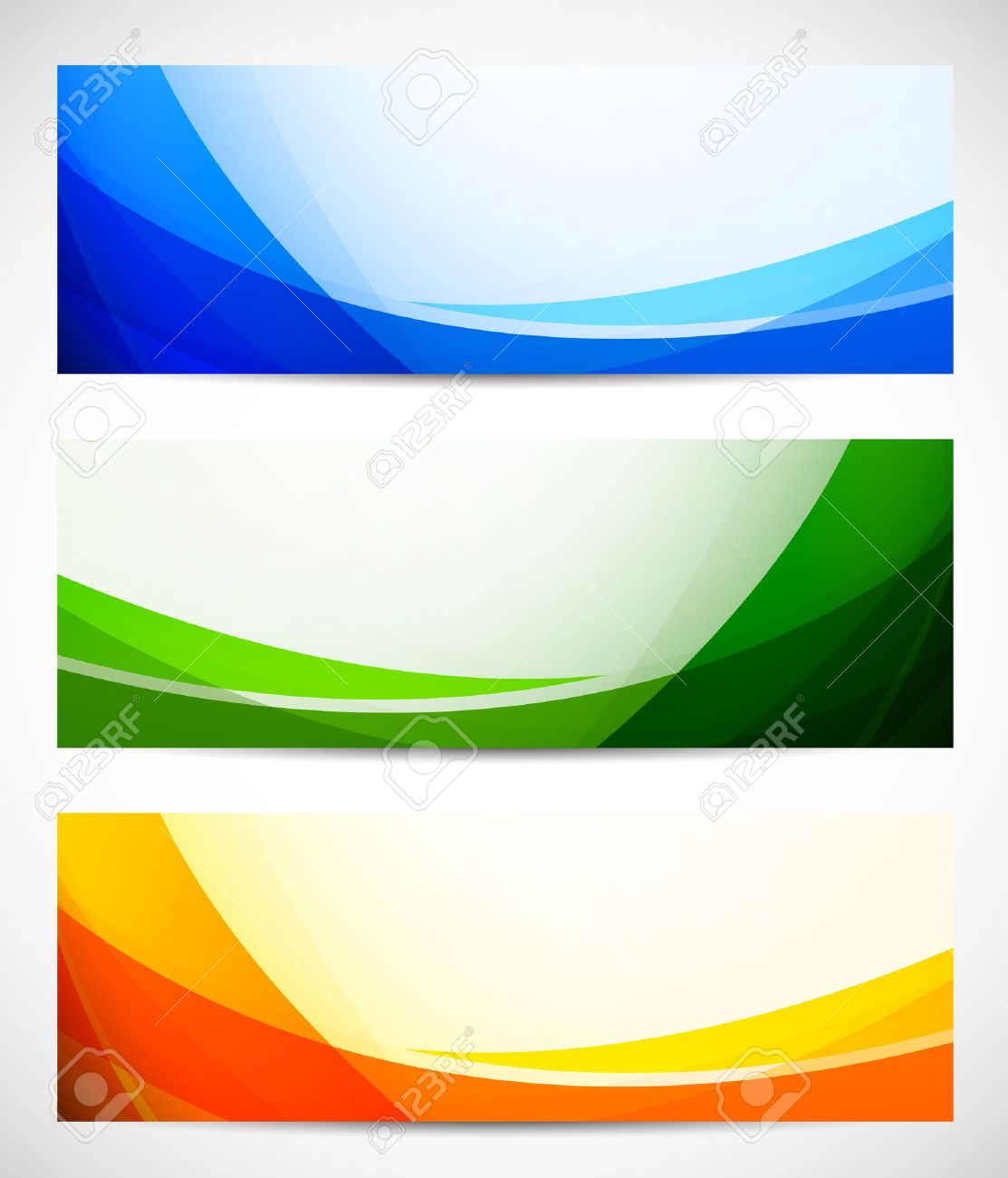Set of abstract banners Bright illustration - 18166767
