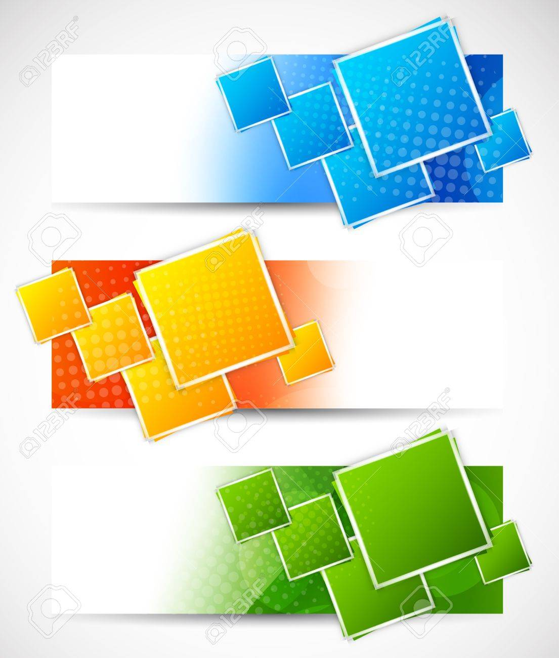 Set of banners with squares  Abstract illustration Stock Vector - 18166791