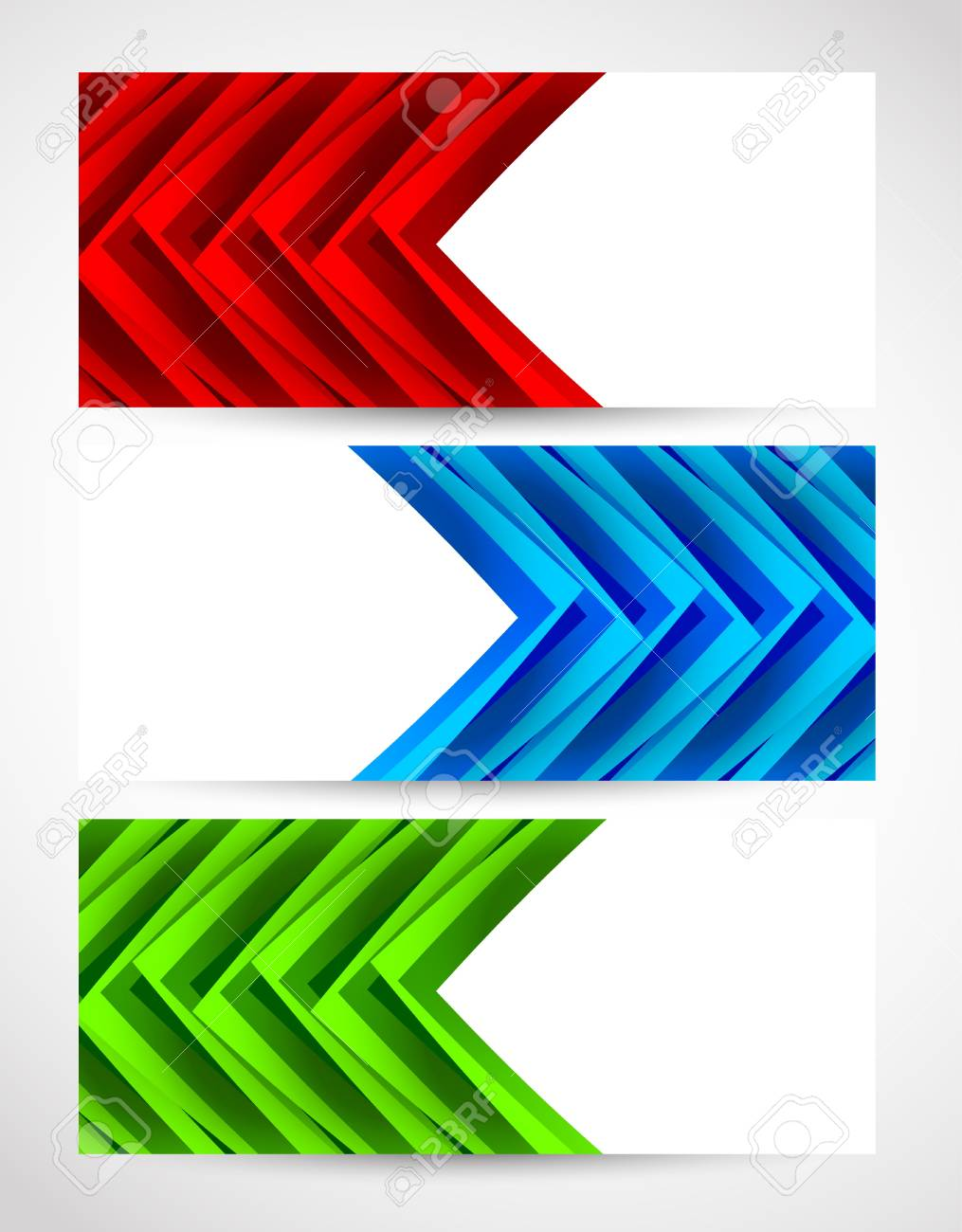 Set of abstract banners. Bright illustration Stock Vector - 18423805