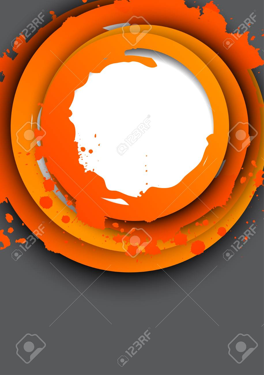 Background with orange circles  Abstract illustration Stock Vector - 18561230