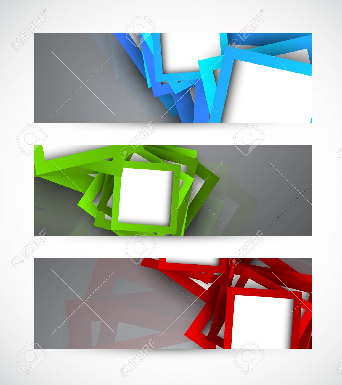 Set of banners with squares  Abstract illustraiton Stock Vector - 18840586
