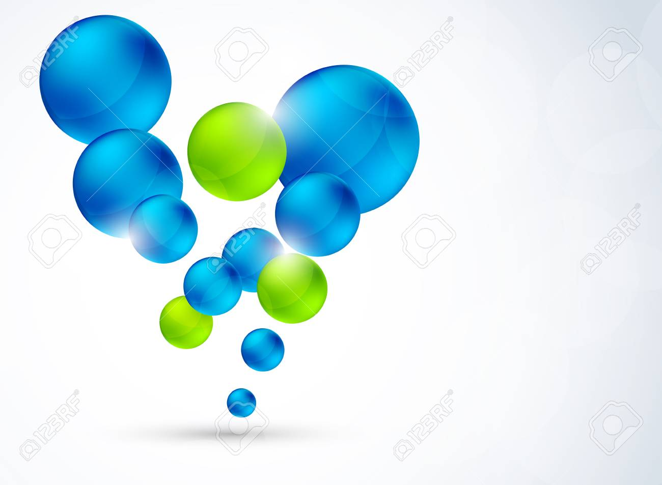 Abstract background with bubbles  Bright illustration Stock Vector - 18840580