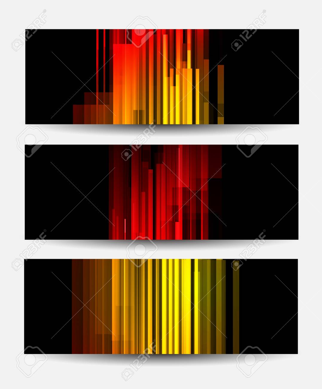 Set of banners with lines  Abstract illustraiton Stock Vector - 18840604