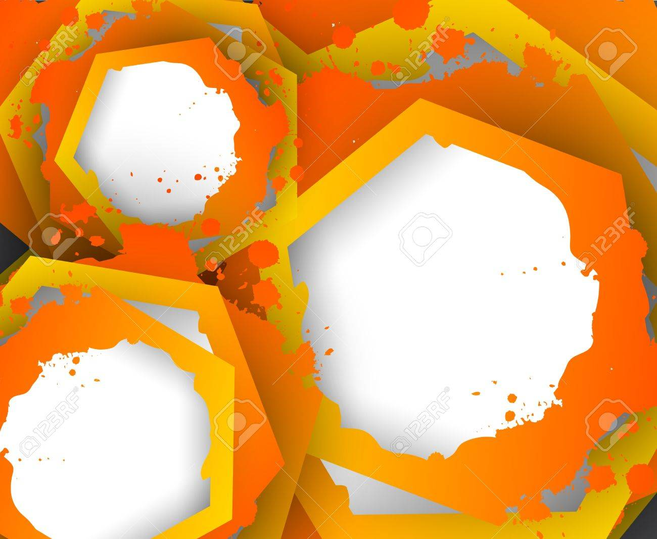 Abstract colorful background with hexagons  Bright illustration Stock Vector - 18840636