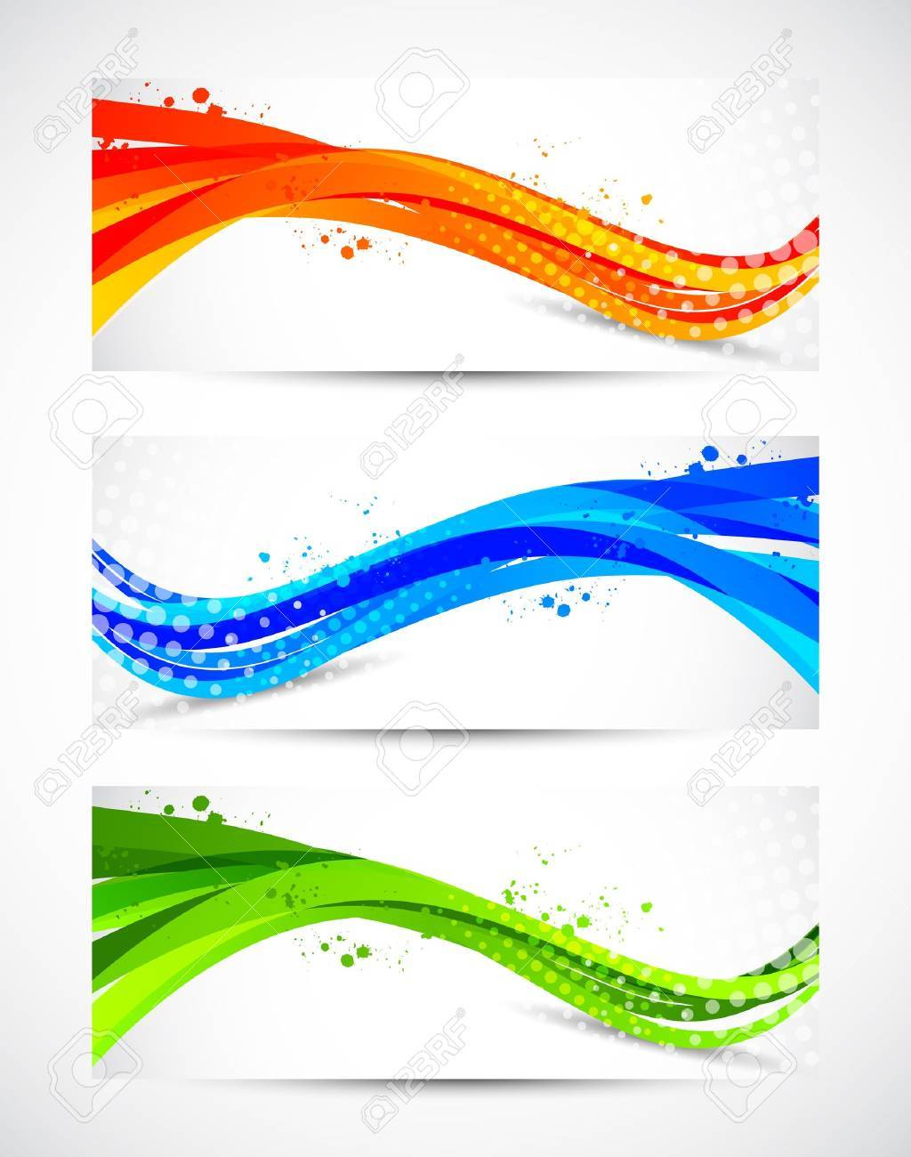 Set of abstract wavy banners Stock Vector - 18840603