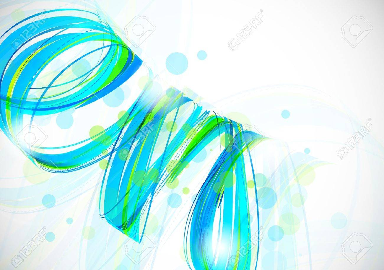 Abstract background in blue and green color Stock Vector - 18970968