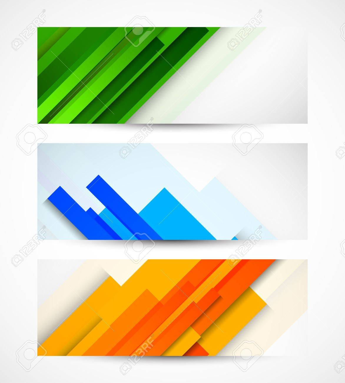 Set of banners with lines Stock Vector - 18970901