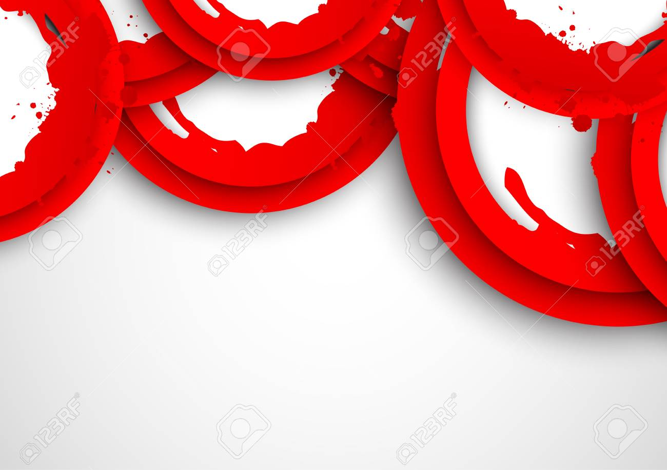 Abstract background with red grunge circles Stock Vector - 19348102