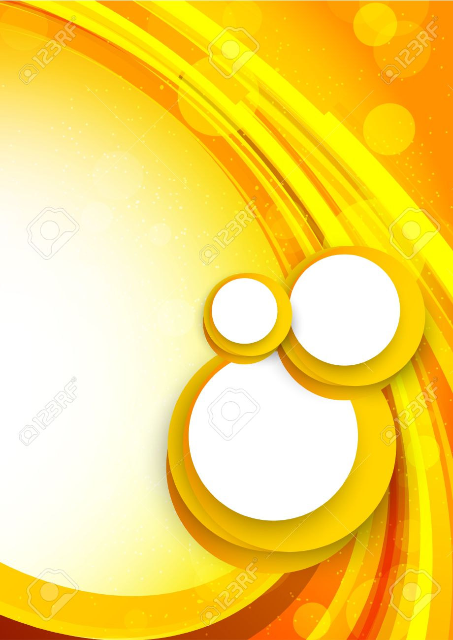 Abstract background in orange color with circles Stock Vector - 19348103