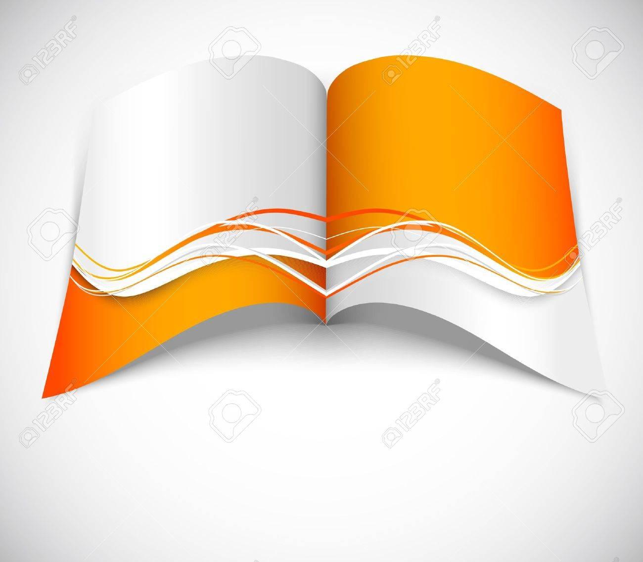 Orange brochure with wavy design Stock Vector - 20315710