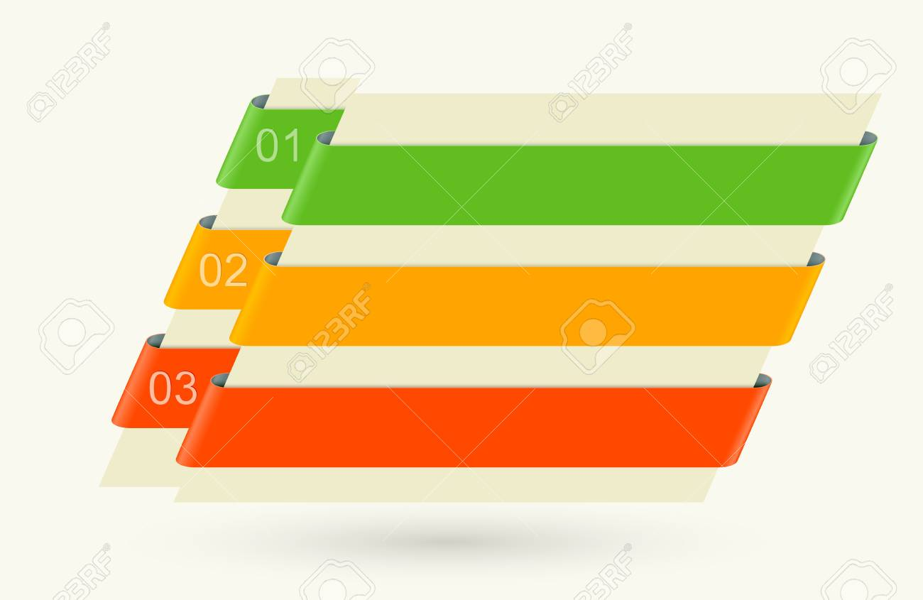 Set of numbered colored banners Stock Vector - 21371341