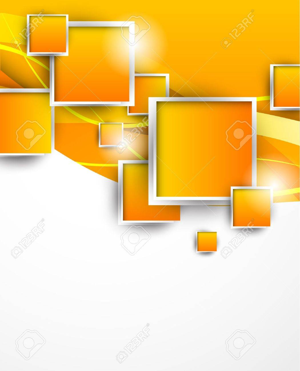 Abstract background with orange squares Stock Vector - 21489851