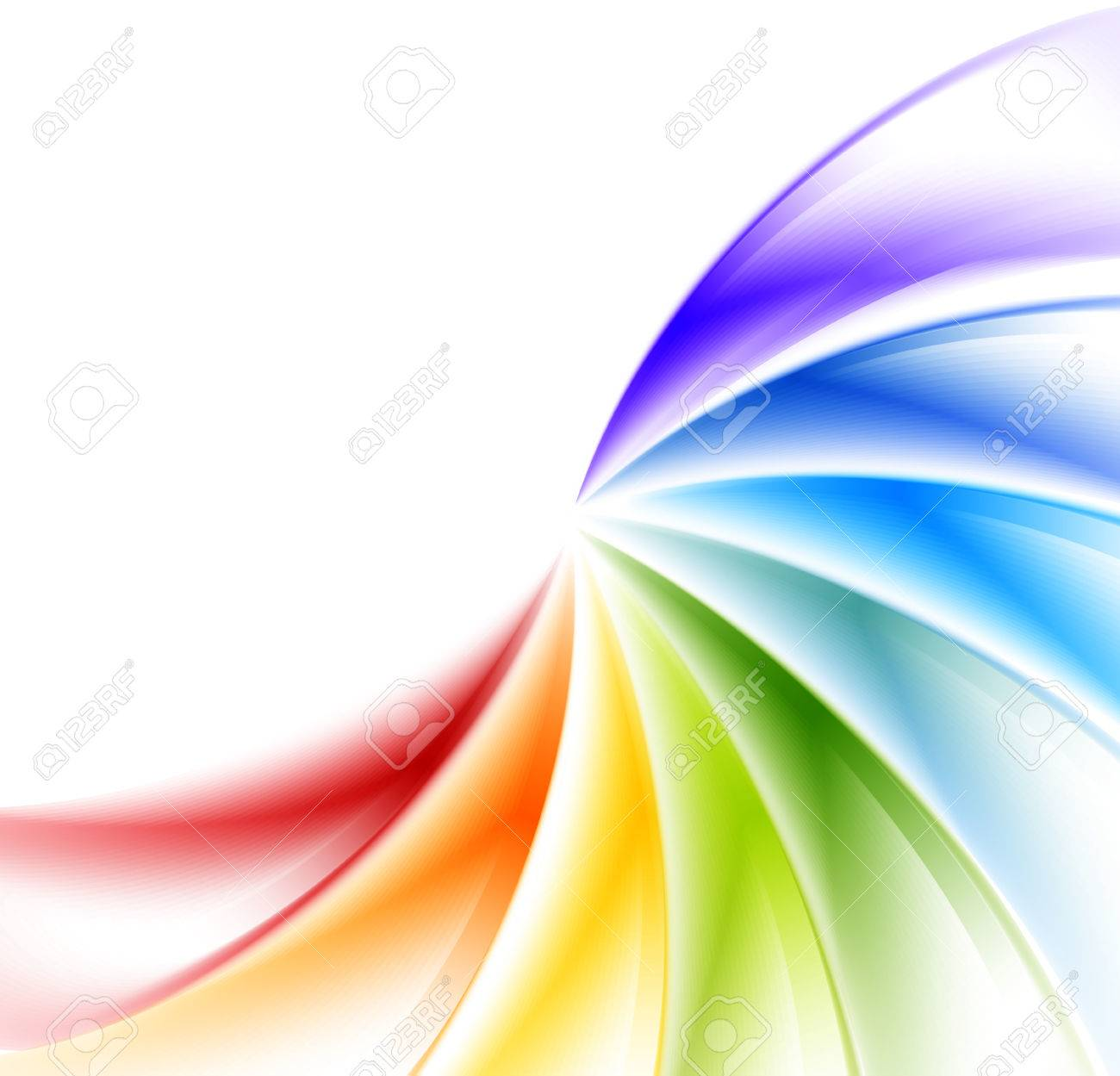 Abstract rainbow background Stock Vector - 23681745