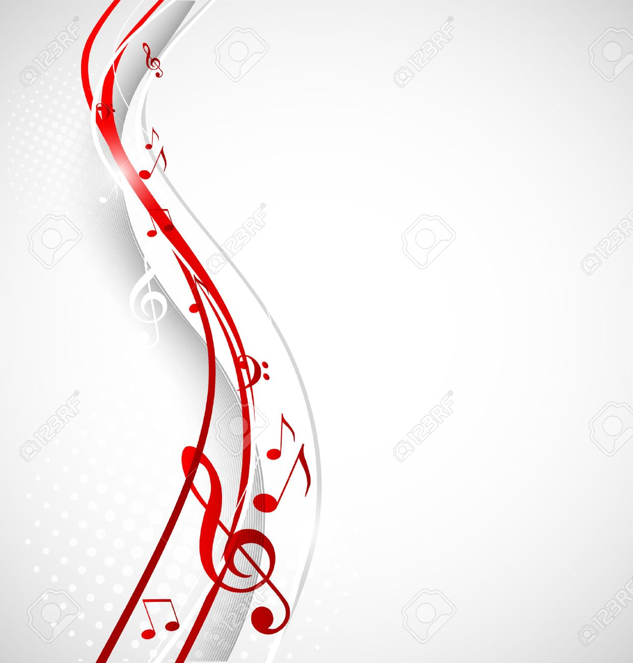 Musical notes staff background on white vector by tassel78 image - Music Notes Color Music Background