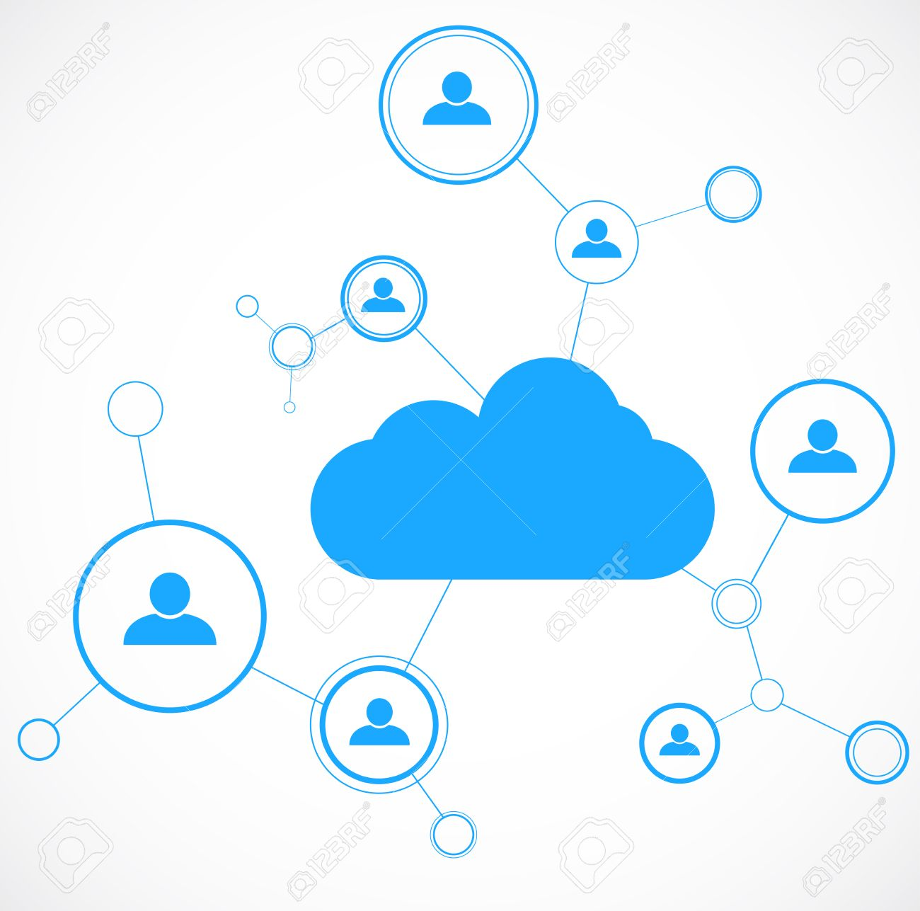 network concept cloud technolgy social networking design template