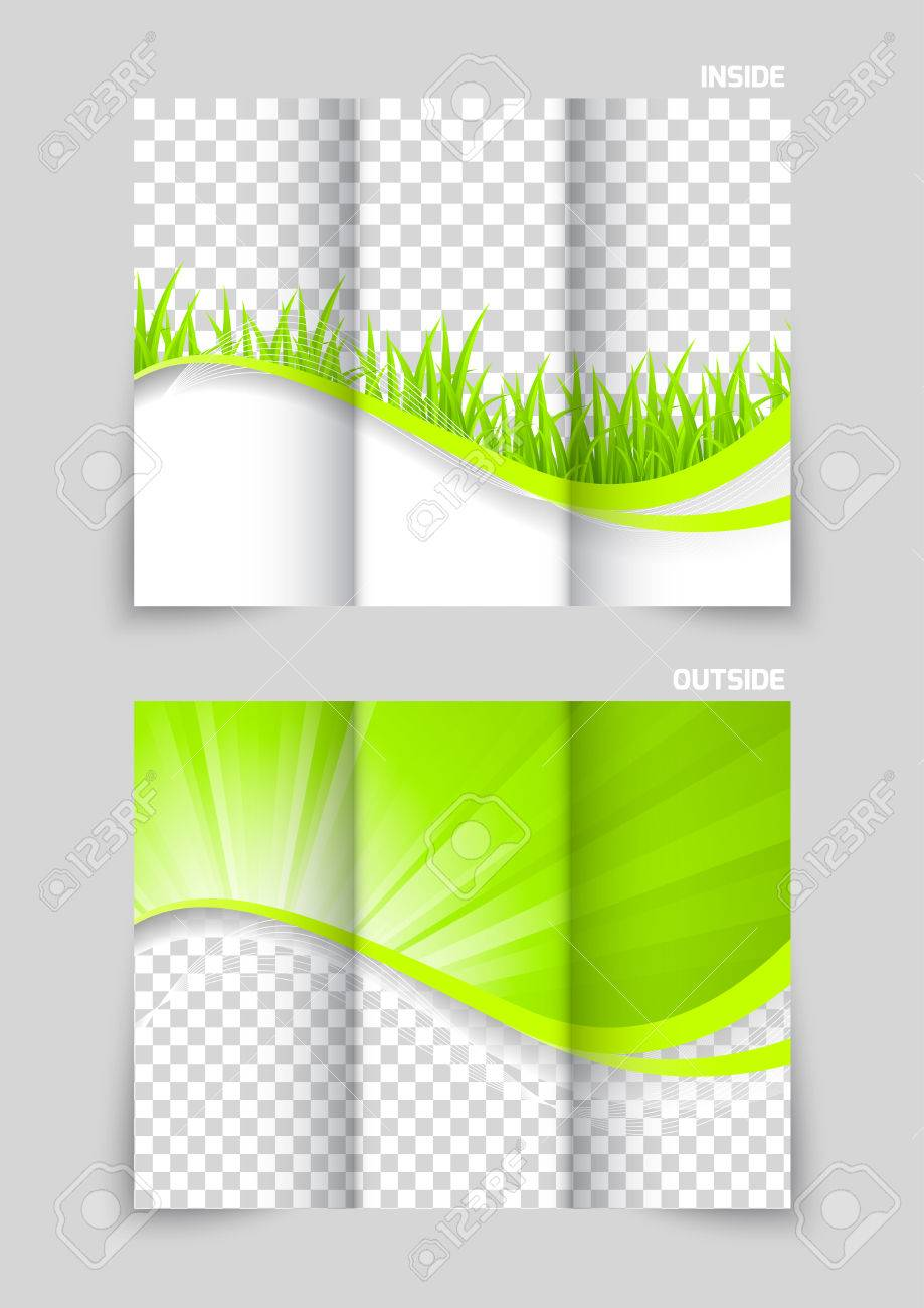 Trifold Brochure Template Design Royalty Free Cliparts Vectors