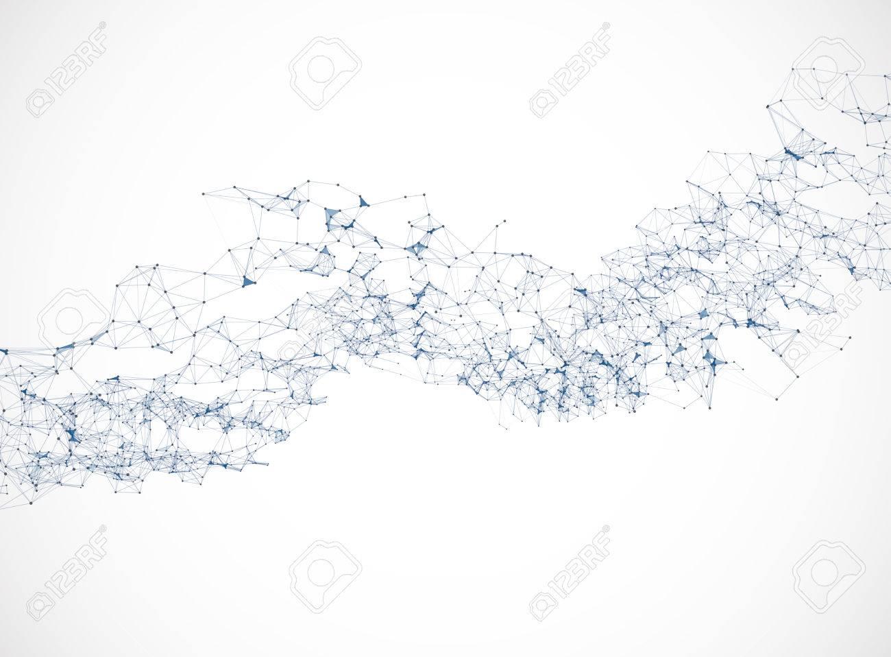 Polygonal background vector illustration science connection design - 51568478