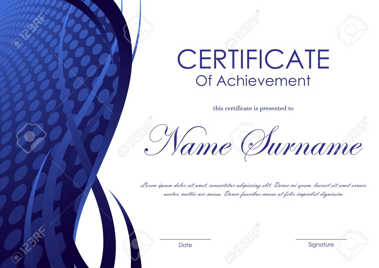 Atemberaubend Zertifikat Der Leistungsvorlage Ideen - Entry Level ...