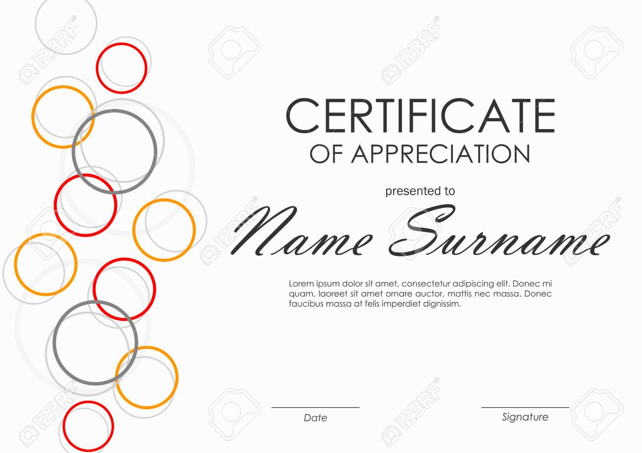 Certificate Of Appreciation Template With Geometric Colorful ...
