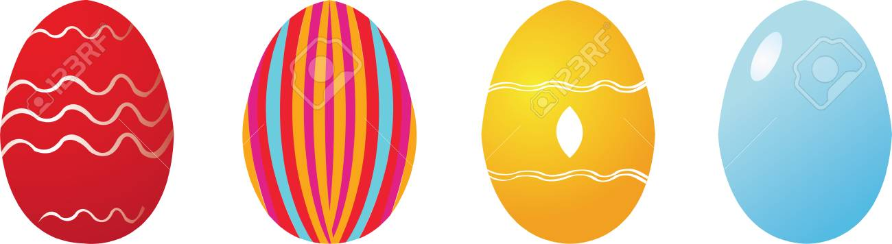 Set of four easter eggs Stock Vector - 3137259