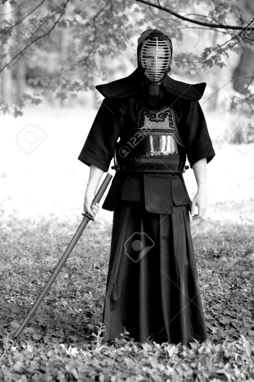Samurai Standing In The Forest Stock Photo Picture And Royalty Free Image Image 7150067