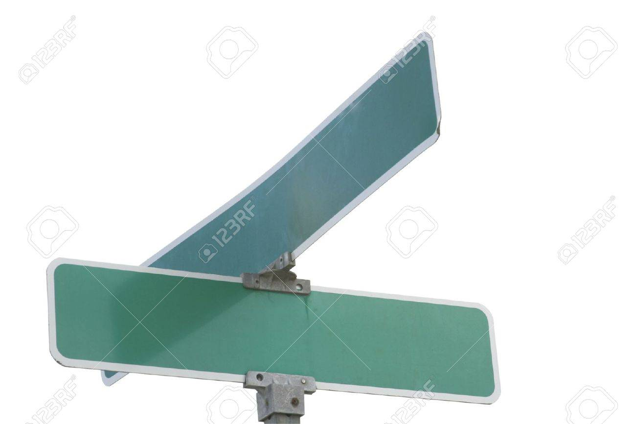 Blank street sign ready for your ideas Stock Photo - 2983796