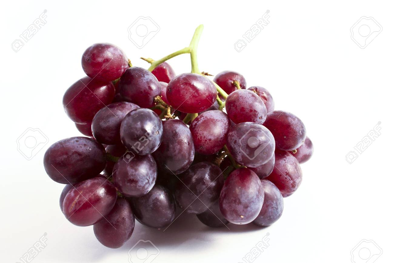 A Bunch Of Fresh Red Grapes On A Clean White Background Stock Photo Picture And Royalty Free Image Image 2983840