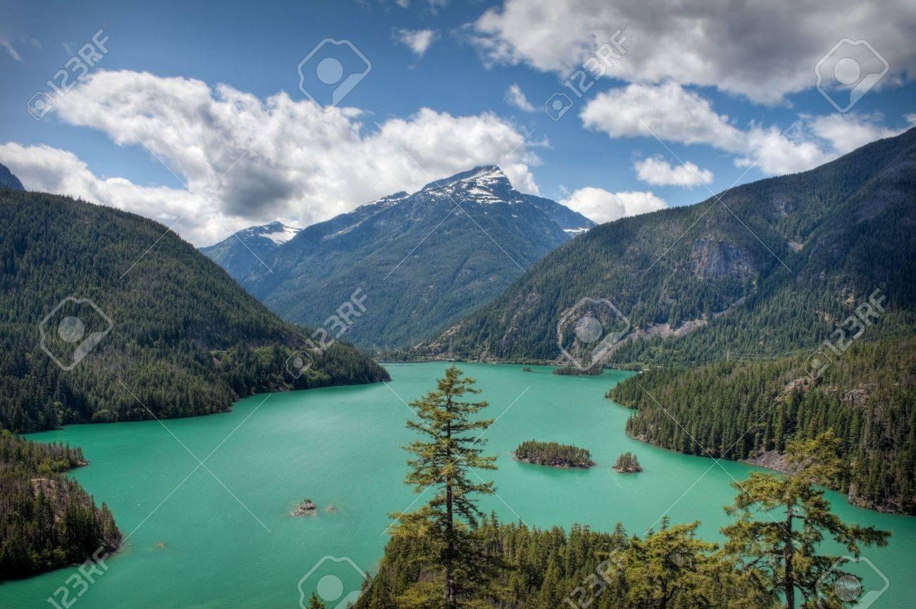 El Diablo Lake in the North Cascades Stock Photo - 5751681