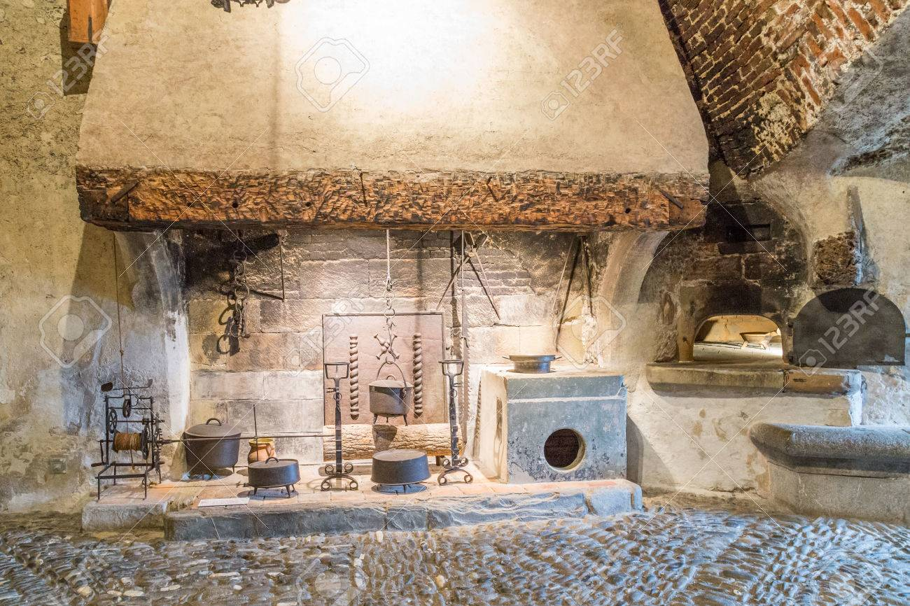 A Medieval Castle Kitchen Stock Photo