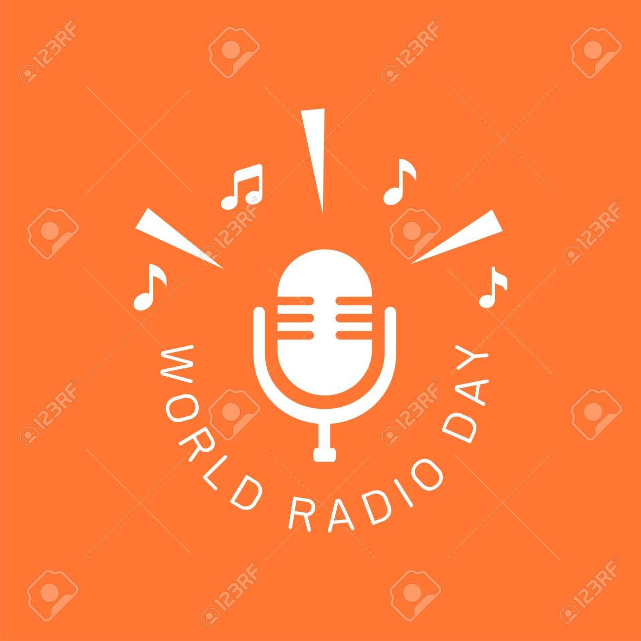 logo design of World radio day for poster, banner or any design - 139841924