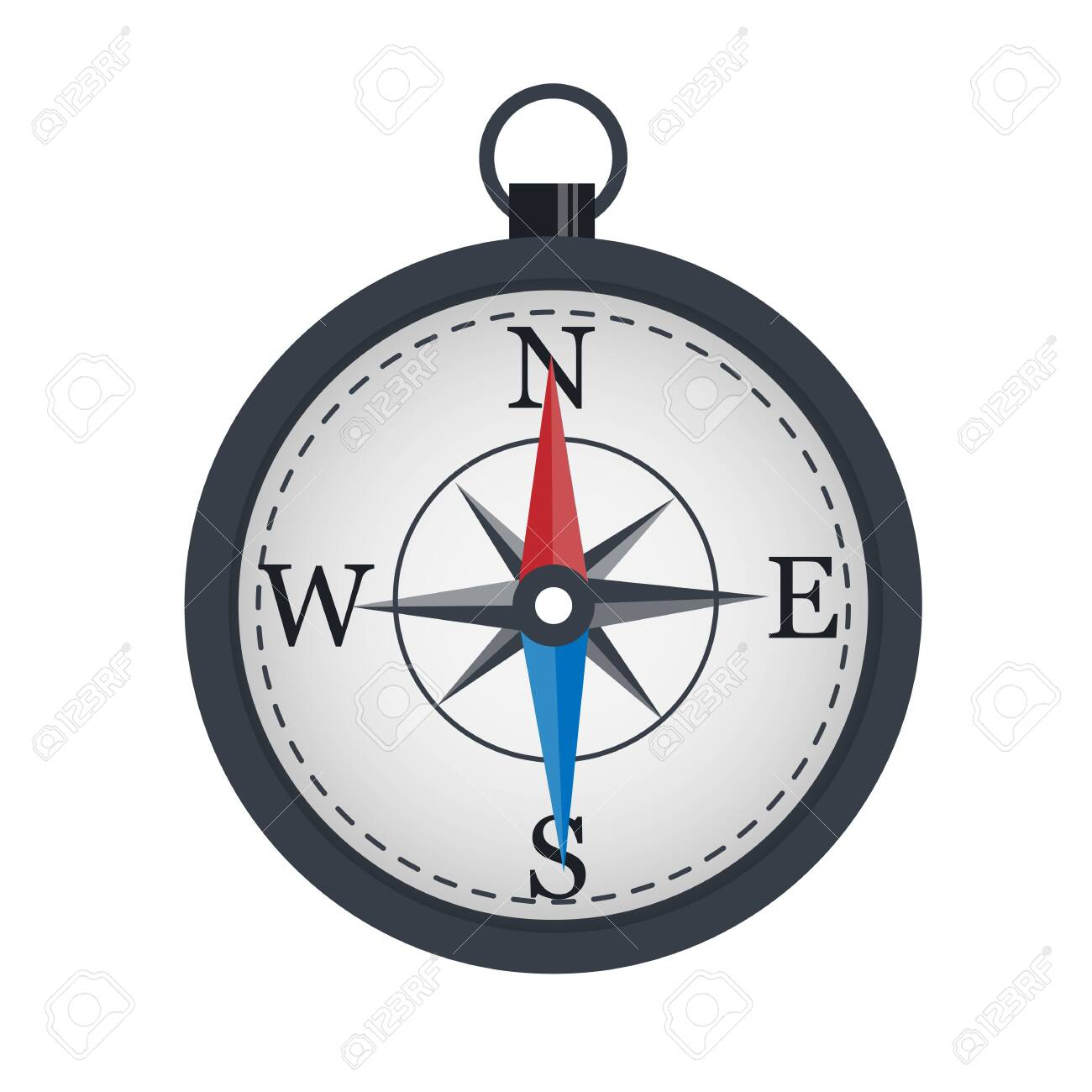 Compass The arrow indicates the direction. Location - 147402807