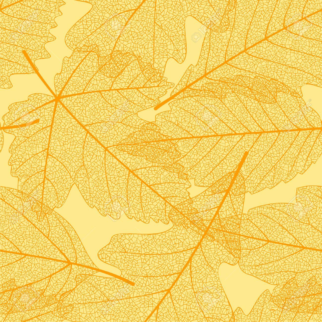 Seamless autumn leaves pattern Stock Vector - 8140917