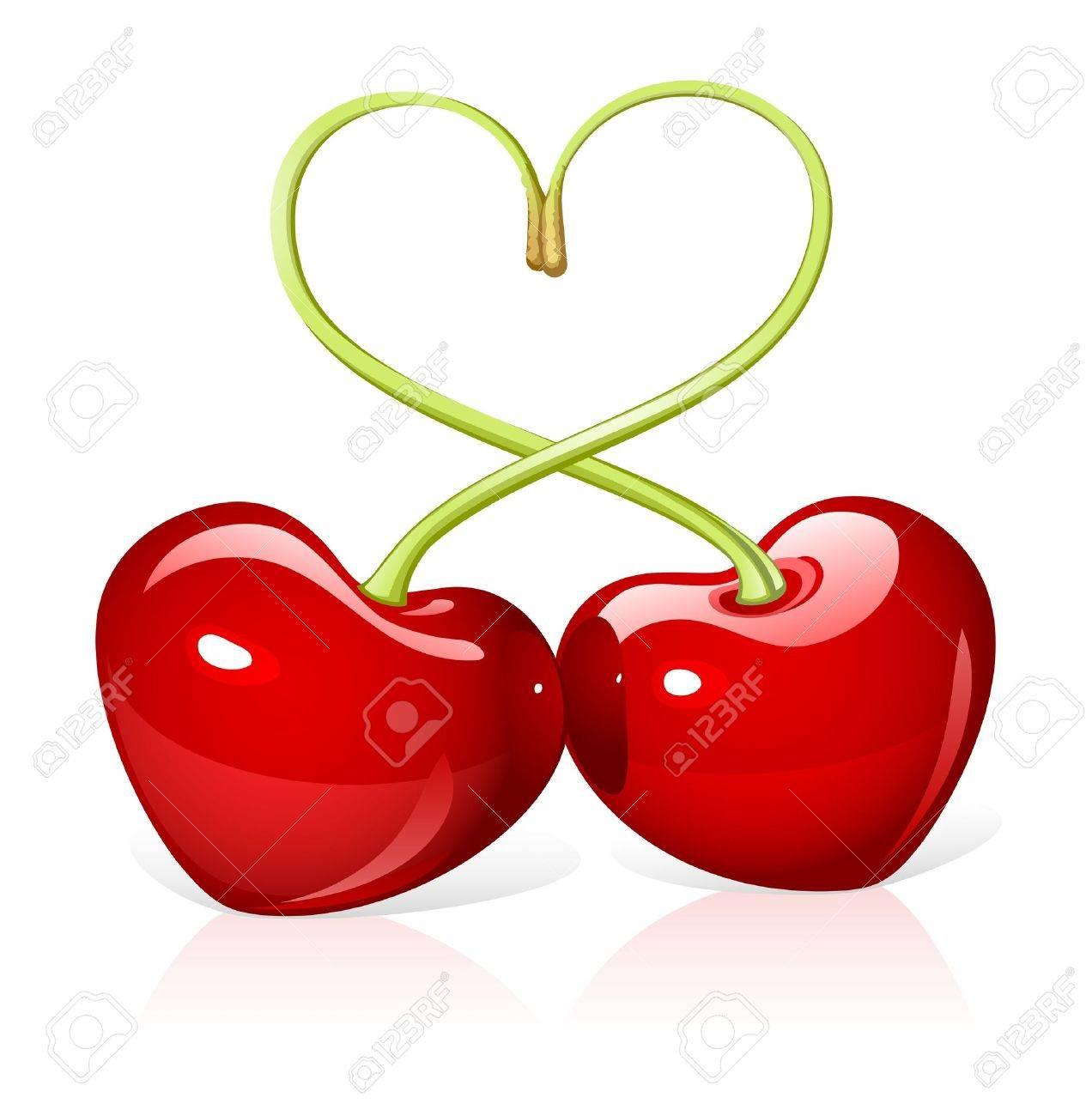 Cherry love royalty free cliparts vectors and stock illustration cherry love stock vector 11172811 biocorpaavc